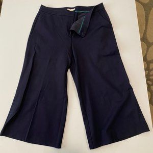 Boden navy ponte wide leg cropped pant size 16